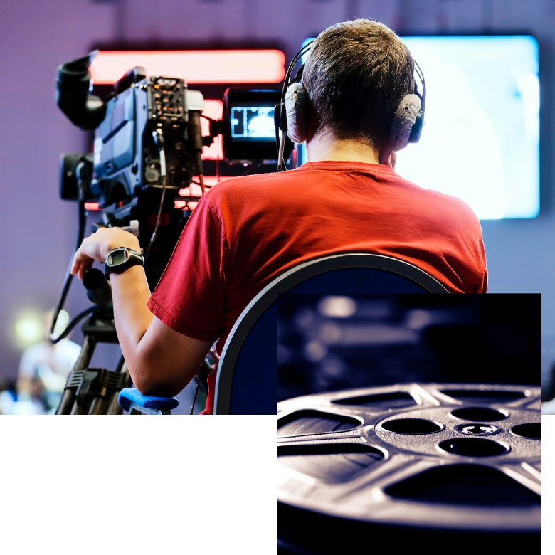 Backlight-digital-pellicola-girato-cameraman
