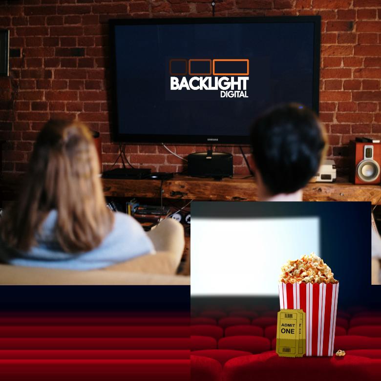 Backlight-digital-video-streaming